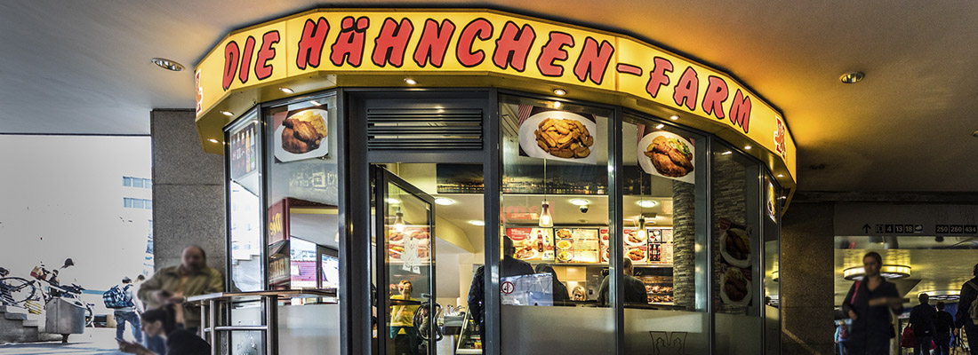 Die Hähnchen-Farm Galerie Wiener Platz Köln Mülheim