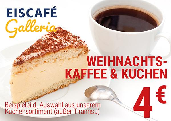 Köln Wiener Platz - Angebote - Eiscafé Galleria Kaffee und Kuchen