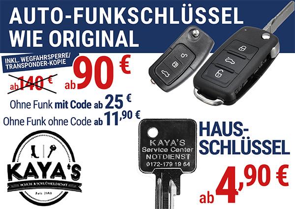 Köln Wiener Platz - Angebote - Kaya's Funk-Schlüssel