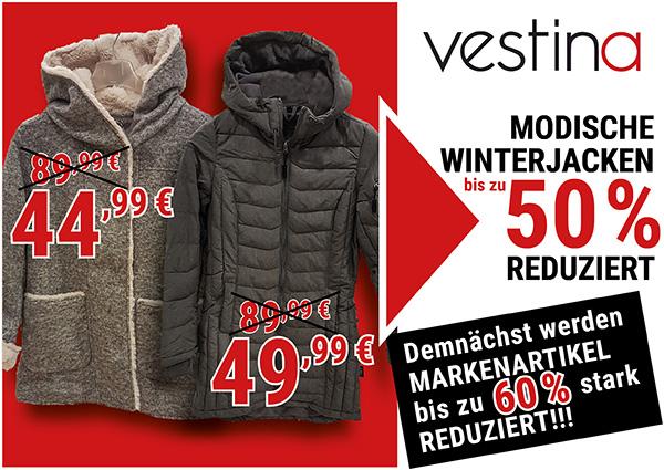 Köln Wiener Platz - Angebote - Vestina Winterjacken
