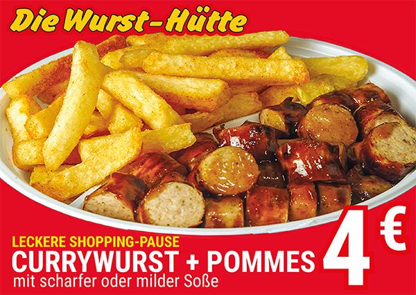 Köln Wiener Platz - Angebote - Wurst-Hütte Currywurst